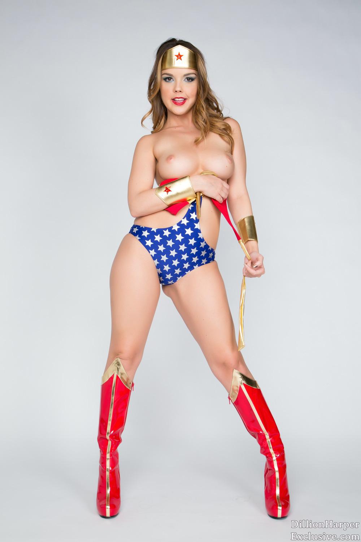 Dillion Harper as Wonder Woman Cosplay