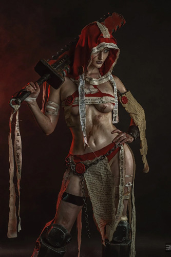 Sister Repentia from Warhammer 40k by Tniwe