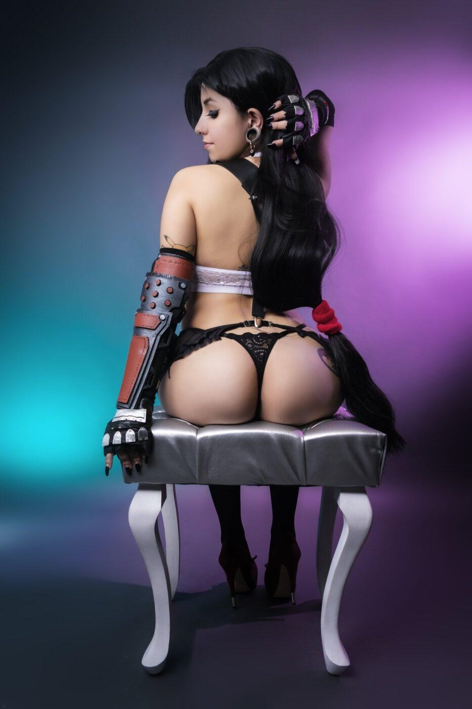 Tanooki as Tifa Final Fantasy