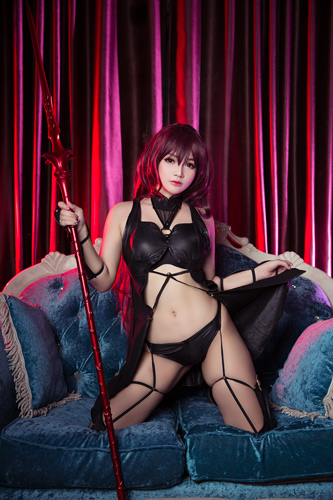 MiMi Chan cosplay as lancer Scathach from Fate Grand Order